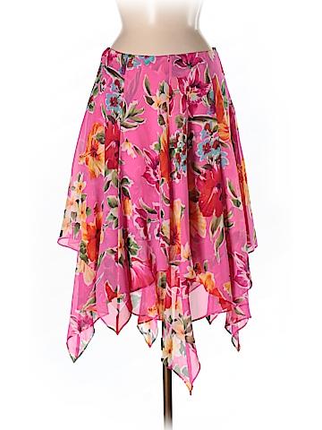 Lauren by Ralph Lauren Women Silk Skirt Size 6 (Petite)