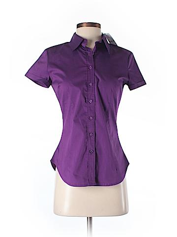 New York & Company Short Sleeve Button-Down Shirt Size XS
