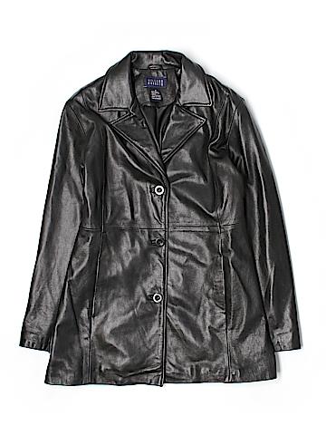 Hillard & Hanson Leather Jacket Size M