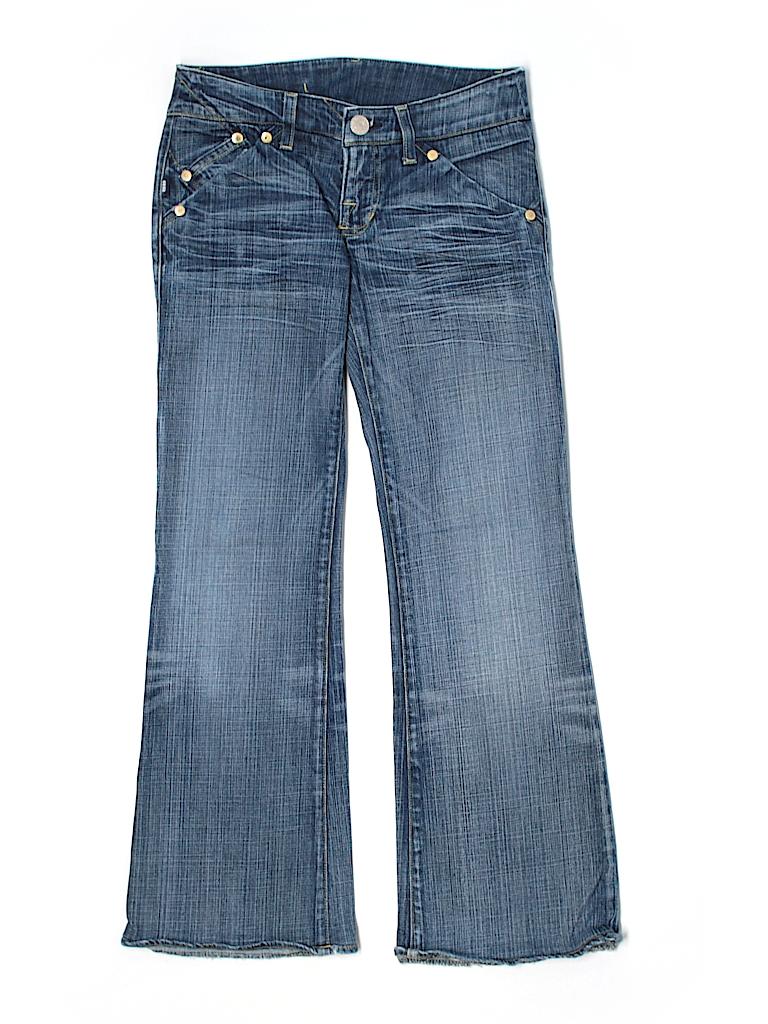 rock republic solid blue jeans 25 waist 95 off thredup. Black Bedroom Furniture Sets. Home Design Ideas