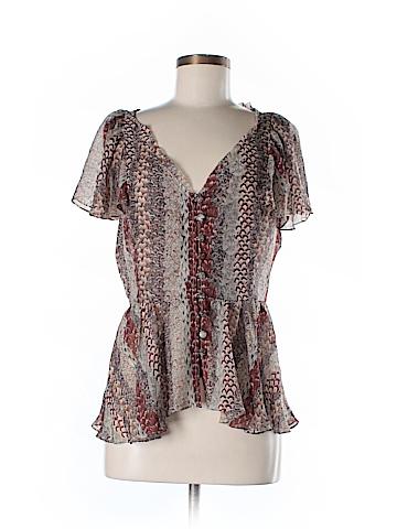 Odille Short Sleeve Silk Top Size 8