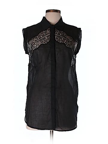 Sandro Short Sleeve Button-Down Shirt Size Lg (3)