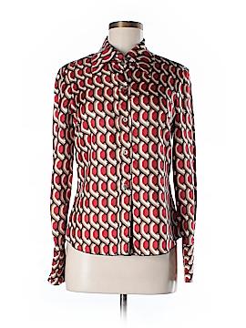 Trina Turk Long Sleeve Silk Top Size M