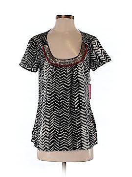 Velvet Women Short Sleeve Blouse Size S
