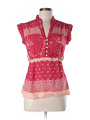 Charlotte Russe Short Sleeve Button-Down Shirt Size L