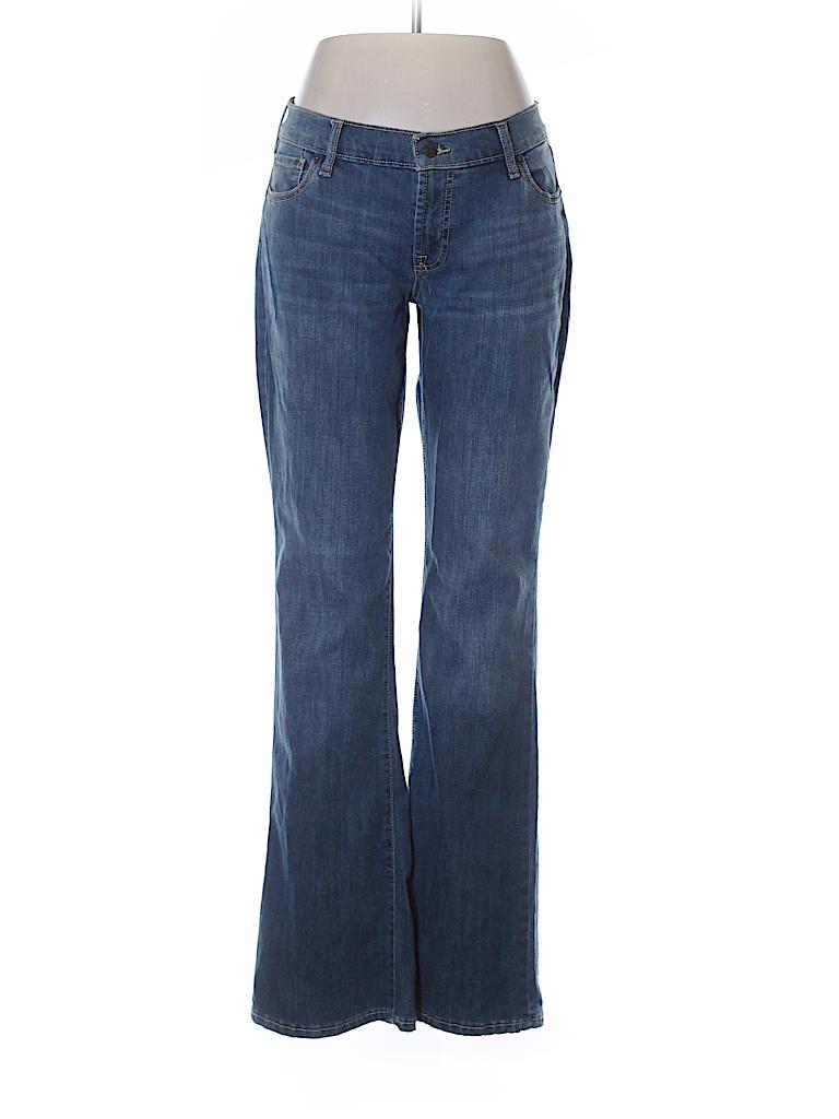 Old navy solid blue jeans size 10 60 off thredup for Denim shirt women old navy