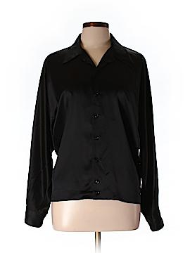 Ralph Lauren Collection Long Sleeve Silk Top Size 10