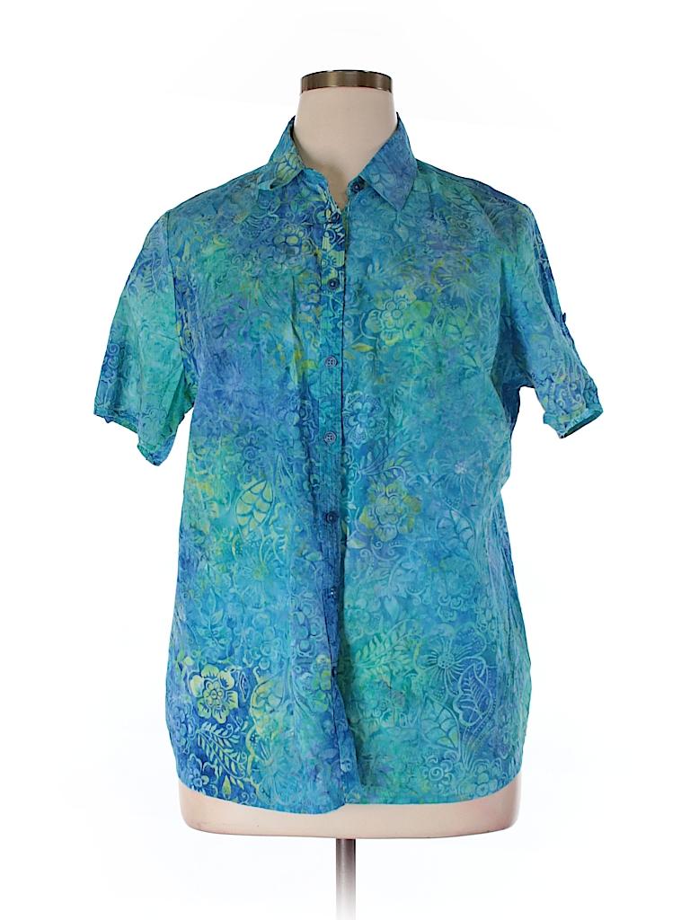 Dress Barn Short Sleeve Button Down Shirt 55 Off Only