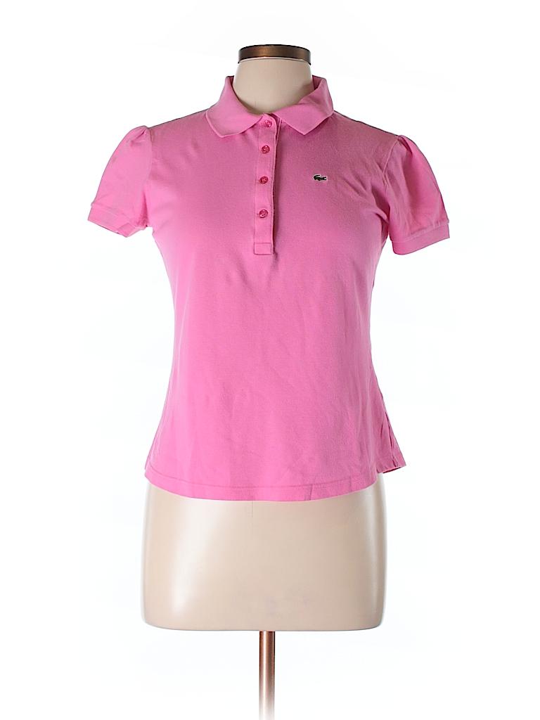 lacoste solid pink short sleeve polo size 44 eu 79 off thredup. Black Bedroom Furniture Sets. Home Design Ideas