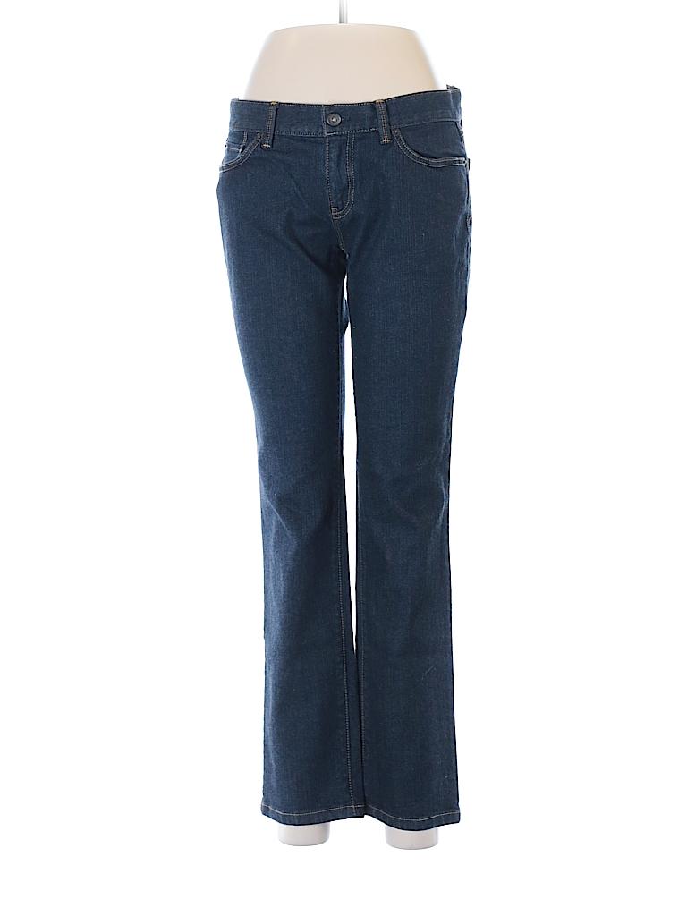 Ann Taylor Loft Solid Dark Blue Jeans Size 6 Petite 80 Off Thredup