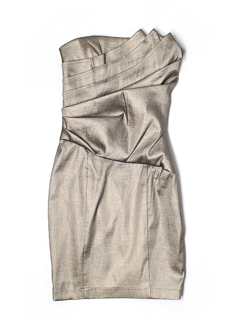 Jessica McClintock Metallic Gold Cocktail Dress Size 2 - 93% off ...