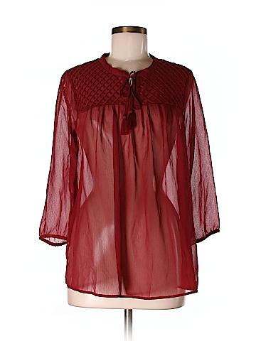 Lucky Brand Women 3/4 Sleeve Blouse Size M