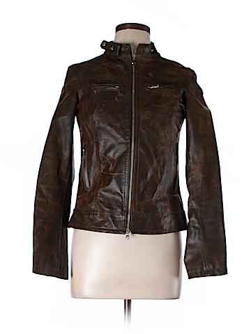 Vera Pelle Faux Leather Jacket Size L