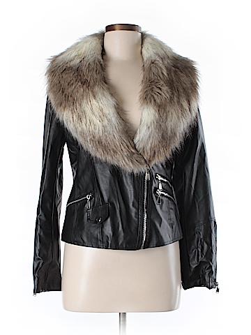 Wenxi Faux Leather Jacket Size M