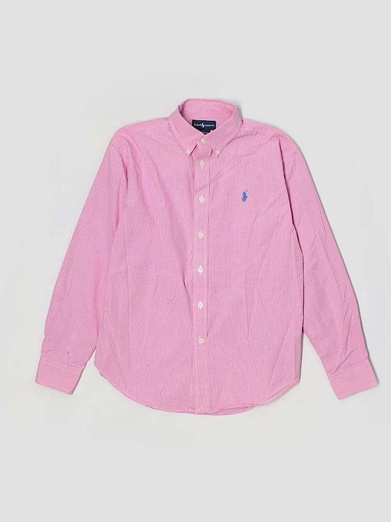 Ralph Lauren 100 Cotton Solid Light Pink Long Sleeve