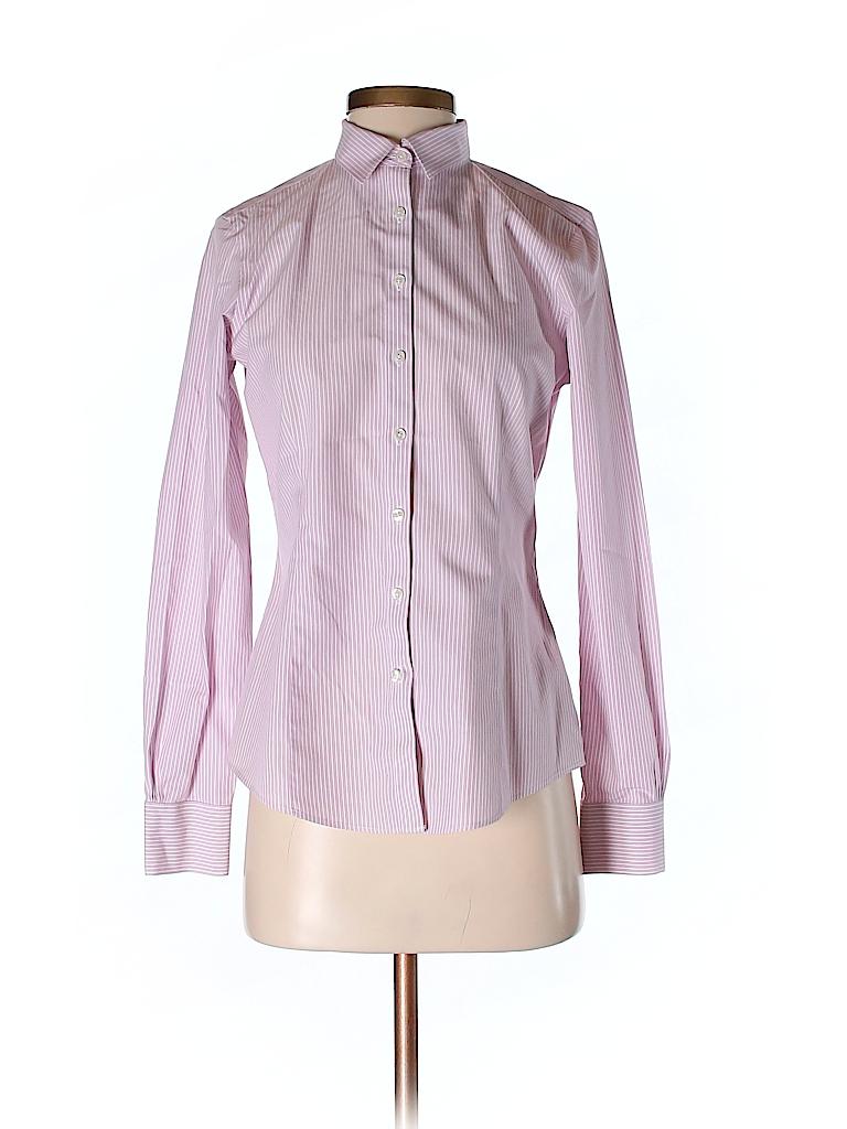 Brooks Brothers 100 Cotton Stripes Light Pink Long Sleeve