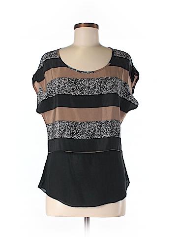 MYNE Short Sleeve Silk Top Size 2