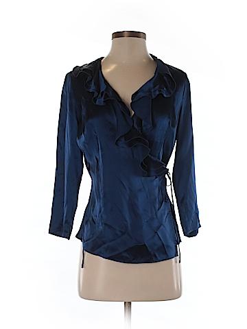 Ann Taylor 3/4 Sleeve Silk Top Size 2