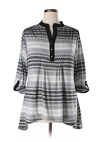 Cocomo 3/4 Sleeve Blouse Size 1X (Plus)