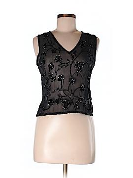 Calypso by Christiane Celle Sleeveless Silk Top Size M