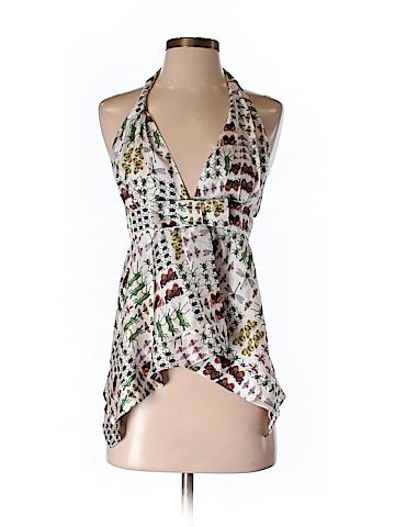 Gucci Women Sleeveless Silk Top Size 40 (IT)