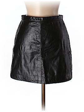 DKNY Leather Skirt Size 6 (Petite)