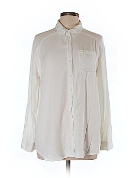 Kensie Long Sleeve Button-Down Shirt Size L