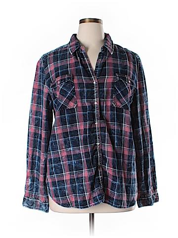 Tribal Long Sleeve Button-Down Shirt Size XL