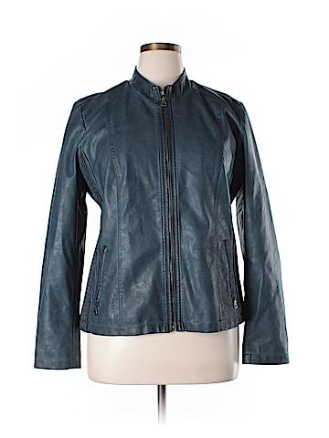Tribal Faux Leather Jacket Size 14