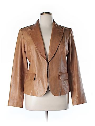 INC International Concepts Leather Jacket Size XL