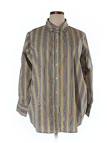 Roaman's Long Sleeve Button-Down Shirt Size 1