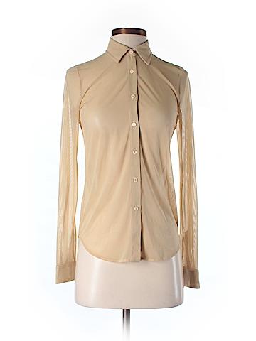 American Apparel Long Sleeve Button-Down Shirt Size XS