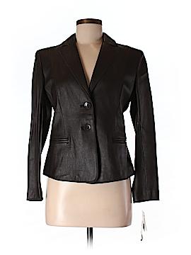 Jones New York Leather Jacket Size 6 (Petite)