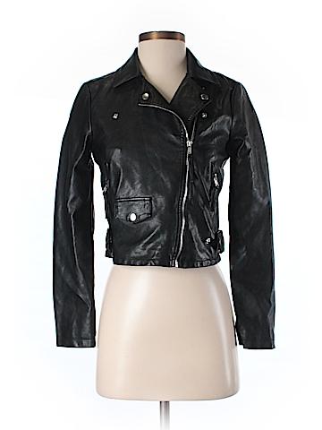 Vero Moda Faux Leather Jacket Size XS