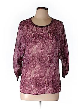 Adriano Goldschmied 3/4 Sleeve Silk Top Size L