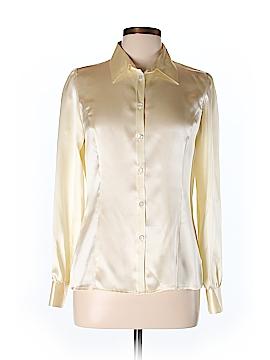 Saks Fifth Avenue Long Sleeve Silk Top Size 10