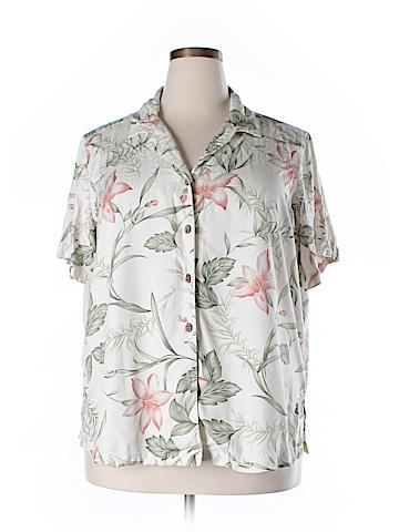Havana Jack's Cafe Short Sleeve Button-Down Shirt Size 1X (Plus)