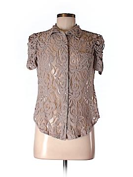 INC International Concepts Short Sleeve Button-Down Shirt Size M