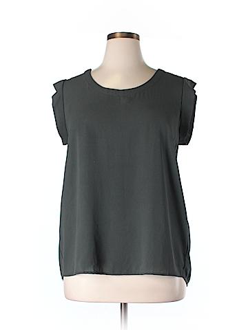 Pleione  Short Sleeve Blouse Size XL