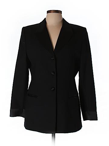 Amanda Smith Women Wool Blazer Size 12 (Petite)