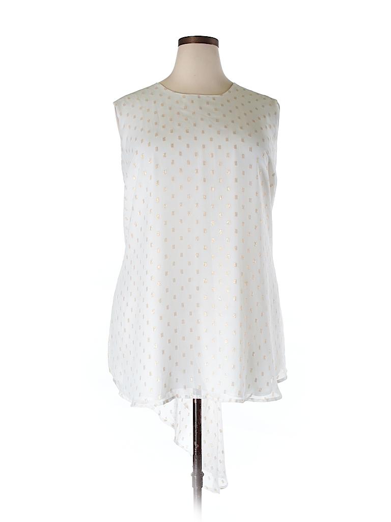 Melissa McCarthy Seven7 Women Sleeveless Blouse Size 3X (Plus)