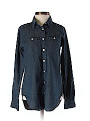 Ann Taylor LOFT Women Long Sleeve Button-Down Shirt Size XXS