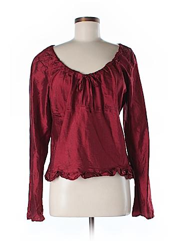 CP Shades Long Sleeve Silk Top Size 12