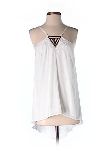Pink Stitch Sleeveless Blouse Size 4