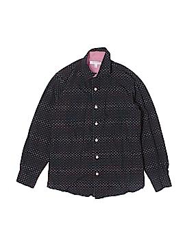 Isaac Mizrahi Long Sleeve Button-Down Shirt Size 10 - 12