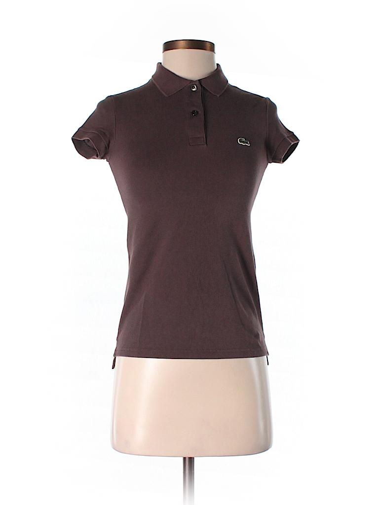 lacoste solid brown short sleeve polo size 34 eu 95 off thredup. Black Bedroom Furniture Sets. Home Design Ideas