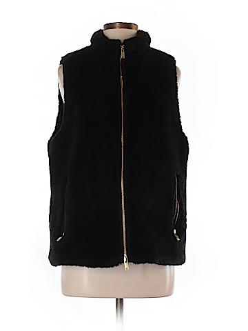 J. Crew Faux Fur Vest Size M