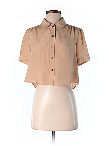 Dolce Vita Short Sleeve Silk Top Size 1