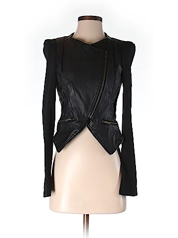 Lush Faux Leather Jacket Size S
