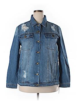 RACHEL Rachel Roy Denim Jacket Size 1X (Plus)